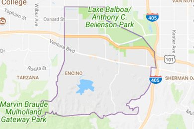 Encino map